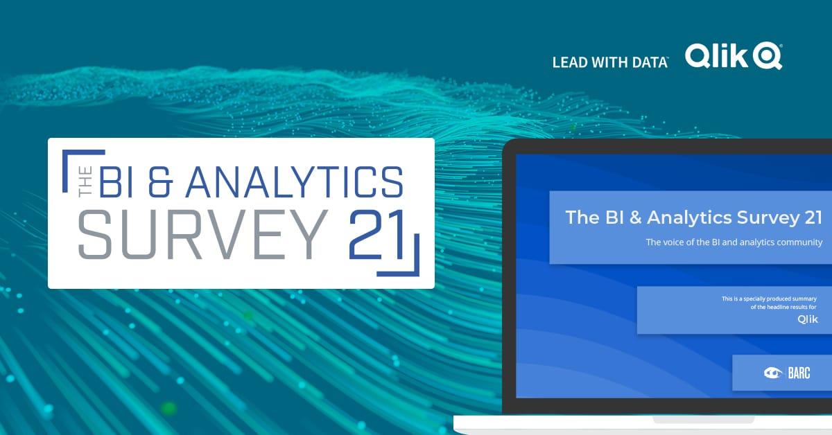 étude BI & Analytics Survey 21 du BARC - les points forts de Qlik